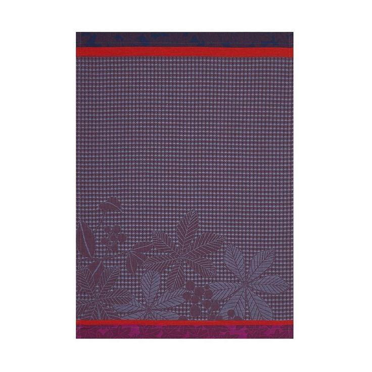 Feuilles D'Automne Purple Hand Towel