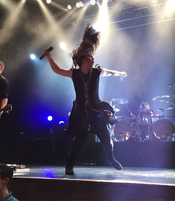 Amy Lee, of Evanescence, live at House of Blues, Orlando FL. April 2016.