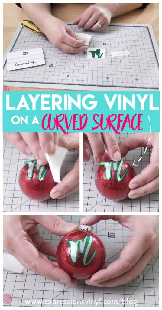 layering vinyl on a curved surface