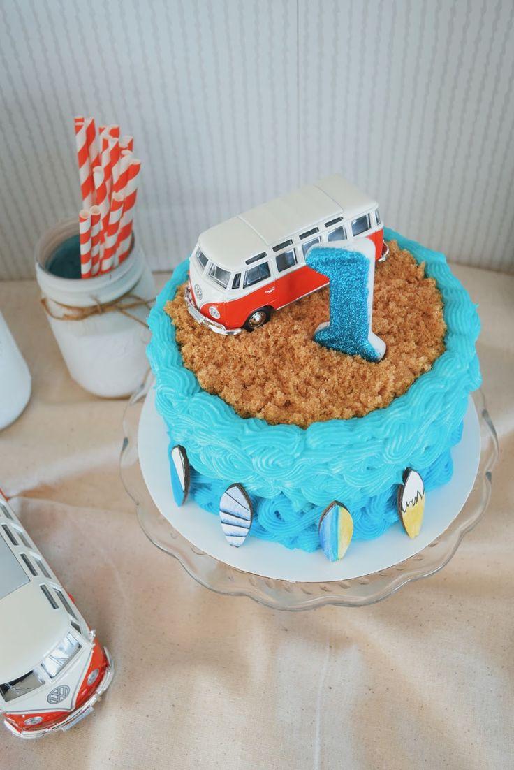 first birthday party ideas / vintage volkswagen surfing birthday party