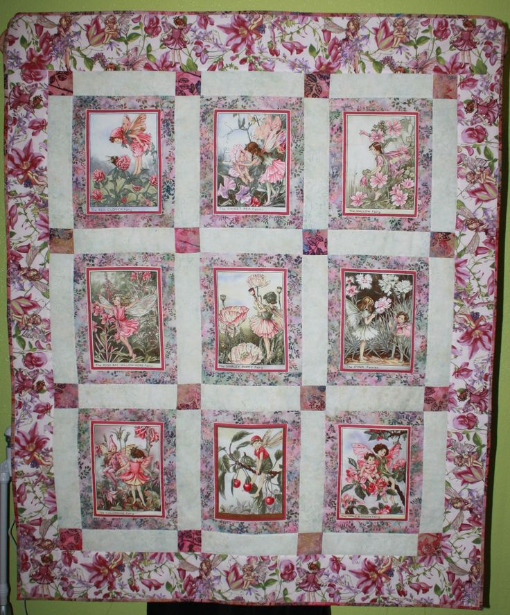 Quilting Panels Quilt Patterns : 43 best Fairy quilts images on Pinterest Flower fairies, Panel quilts and Quilt blocks