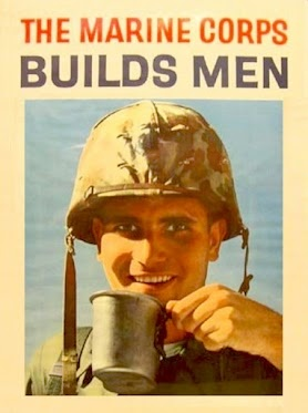 A Vietnam War-era Marine Corps recruiting poster; I want Ricky to get this one for his office