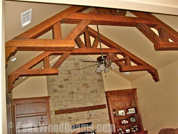Best 25 wood truss ideas on pinterest roofing tools for Real wood box beams