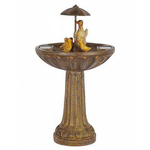 Fontaine De Jardin Solaire Résine Effet Bronze 84cm - Aucun Câble ...