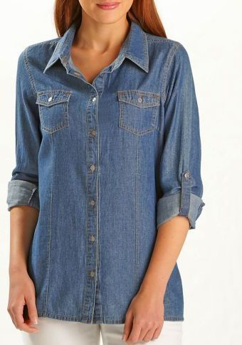 Džínová košile #ModinoCZ #jeans #blue #trendy #style #fashion #moda #moda #denim #kosile #shirt