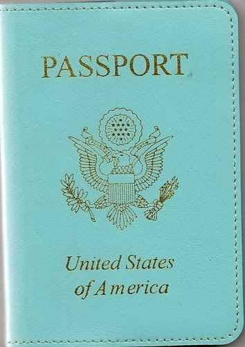 A Passport Cover | 37 Ways To Treat Yourself With Tiffany Blue