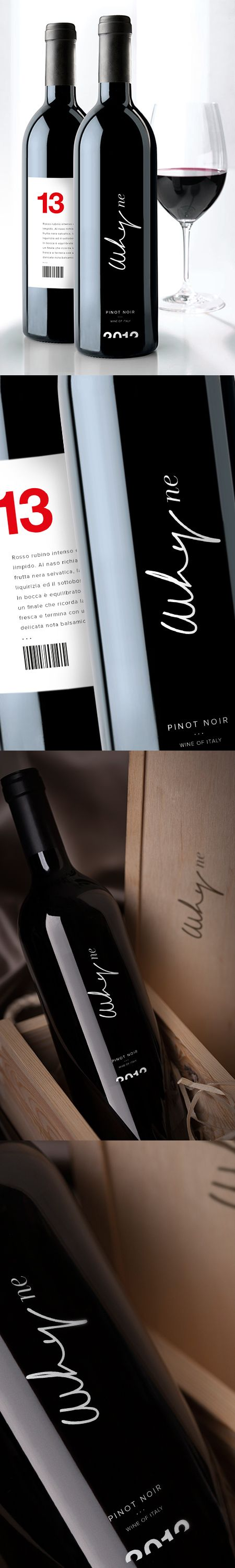 label / WHYNE \ wine pinot noir.