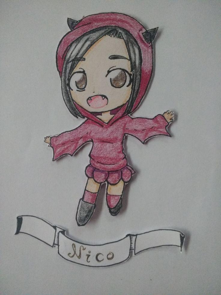 Está es Nico, una chica murciélago ¿No es linda?