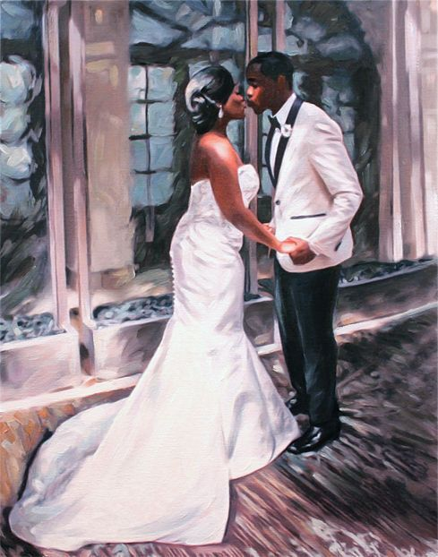 Custom Portrait Painting from Photo #Wedding #gifts idea #Christmas gift idea Wedding Anniversary gift idea fro him Home Decor by AnastassiaArt on #Etsy