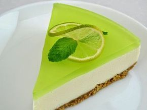 лаймовый желейный торт