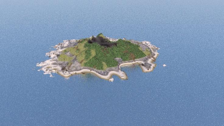 Island with vegetation