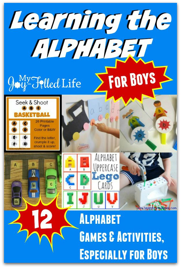 12 Alphabet Games & Activities - Especially for Boys - My Joy-Filled Life