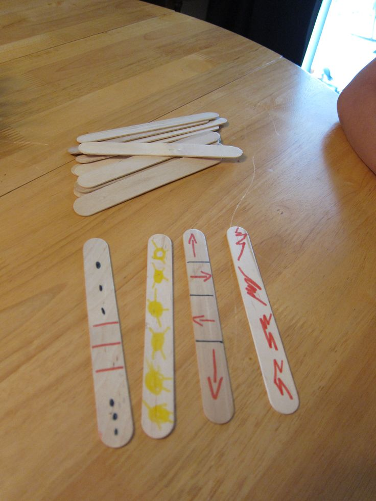 Thanksgiving Crafts for Kids- Native American stick game