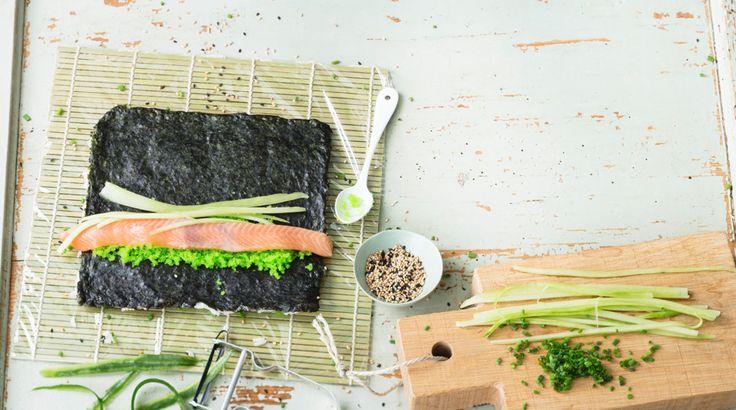 Sushi selber machen Sushireis Nigiri und Hoso Maki
