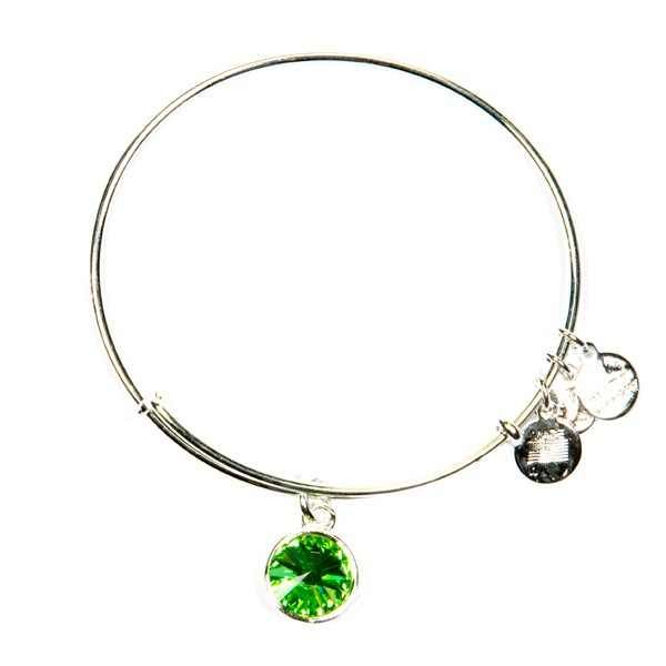 Alex and Annie peridot august birthstone bracelet