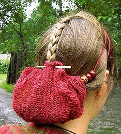 Reconstruction of a Saxon sprang hairnet. - Wikipedia, the free encyclopedia