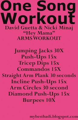 Arm workout to Hey Mama