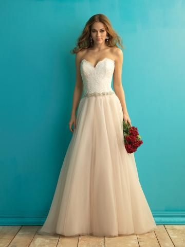 Elegantní & luxusní Nášivky Zip Svatební šaty 2015