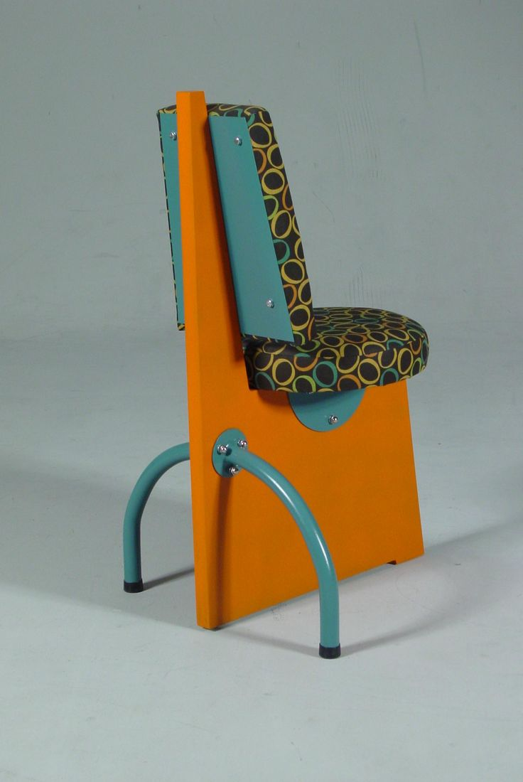 memphis chair is wierdly amazing to look at odd shapes gaudy colours make you think group furniture