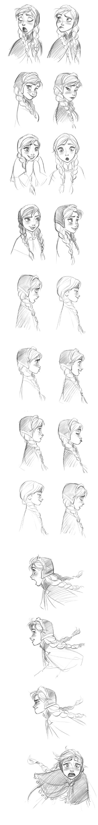 """Anna (Frozen)"" Expressions by Jin Kim* 