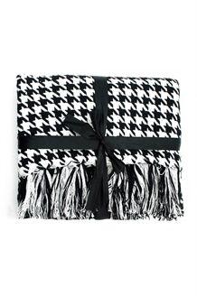 Plaid<BR> 125 x 150 cm - Bianco e Nero
