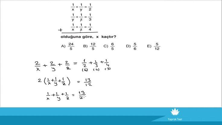 YGS Temel Matematik /1