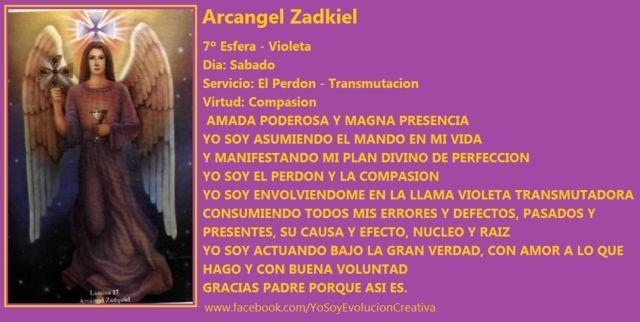Arcangel Zadkiel - Septimo Rayo - Sabado