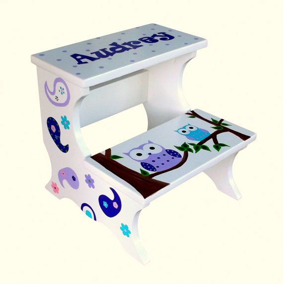 Custom Childrenu0027s Personalized Owl Step Stool & 61 best I Did It - Step stools for children. images on Pinterest ... islam-shia.org