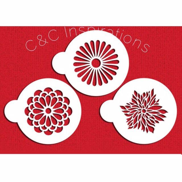 Modern Flower Cookie Stencil Set