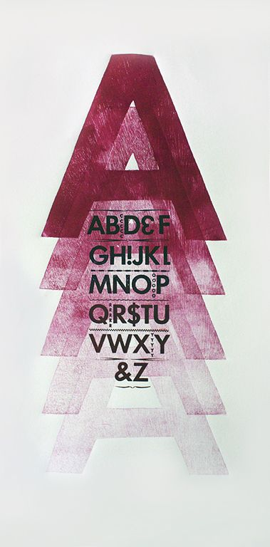 Letterpress & Wood Type Series by Sallie Harrison, via Behance