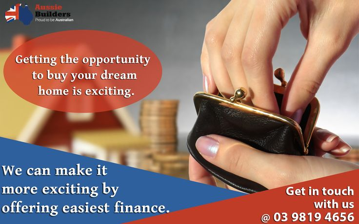 Getting the opportunity to buy your dream home is exciting. We can make it more exciting by offering easiest finance. Get in touch with us @ 03 9819 4656