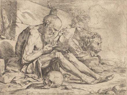 Saint Jerome Reading by Jusepe de Ribera (c. 1624) - National Gallery of Art, DC