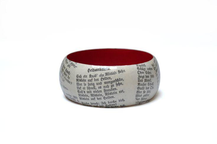 Poems from Johann Wolfgang von Goethe - Heidenröslein - bracelet from Schnipseljagd @ DaWanda.com