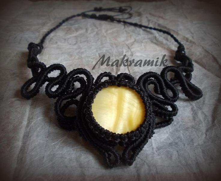 #necklace, #micro-macrame, #macrame, #naszyjnik, #makrama, mikro-makrama