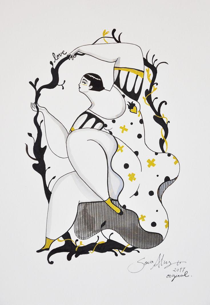 Custom screen printing series of the artwork Inside Love