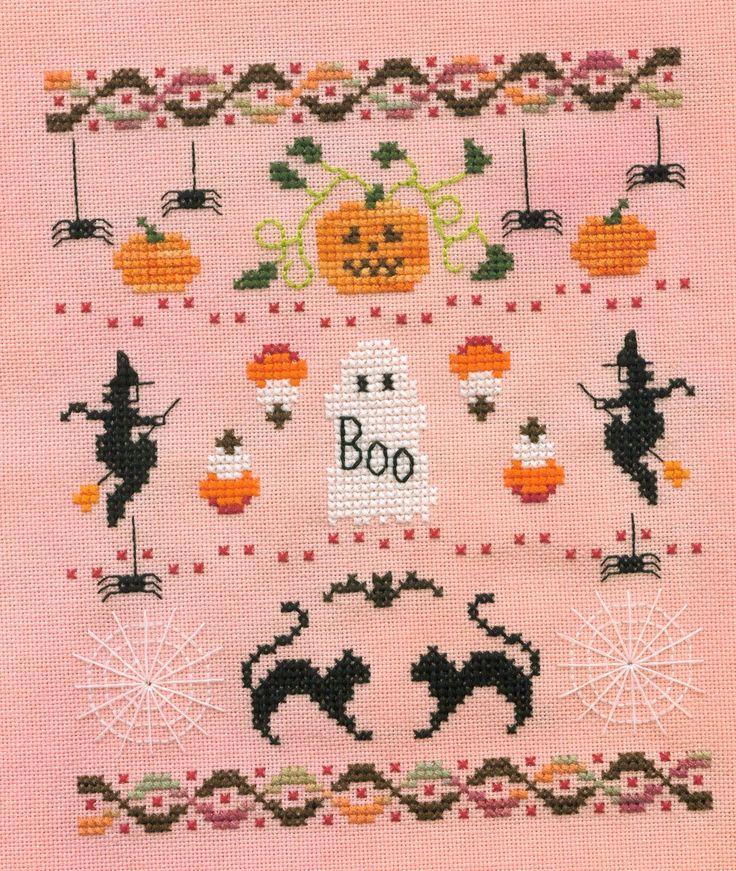 Хэллоуин вышивка крестом на день всех святых (схемы)