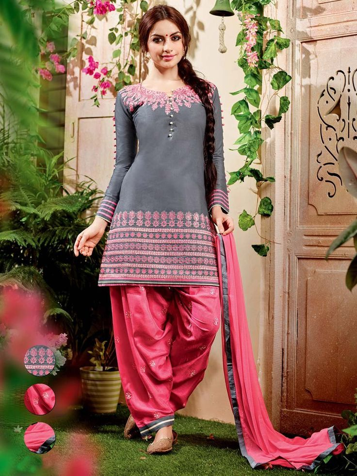 Fabulous outfit will be remembered for its beautiful looks and delicate feel.  Item Code: SLNYA704 http://www.bharatplaza.com/new-arrivals/salwar-kameez.html
