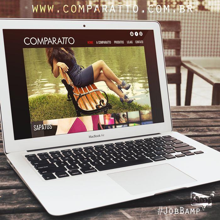 #Job Site da #Comparatto... Onde vocês poderão acompanhar as mudanças de coleção e as novidades da loja. Desenvolvido em #WordPress e com um #layout #clean. #BampDM #Design #Marketing e #WebSite