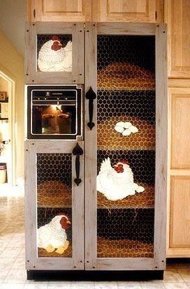 Refrigerator door cover.