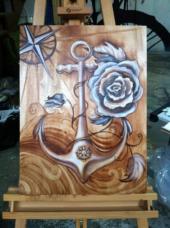 Anchor by JoleneMackieArt on Etsy, $200.00