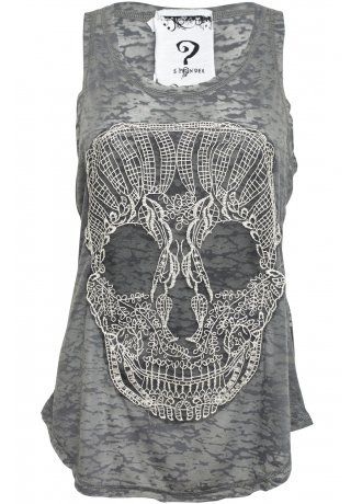 Lace Skull Burnout Vest I have this exact same top. One if my faves.