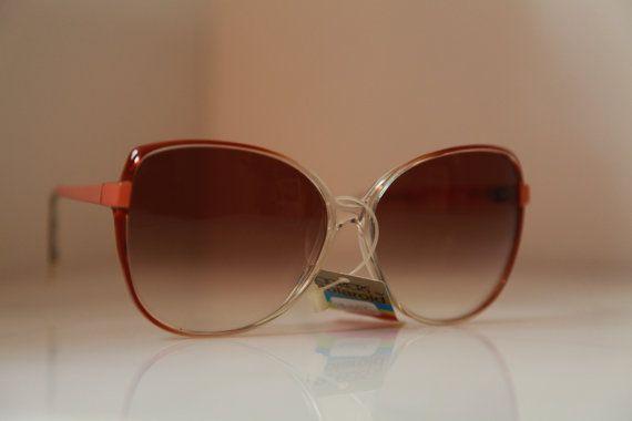 Vintage Polaroid Brown Orange Frame by LovelyVintageGlasses, $50.00