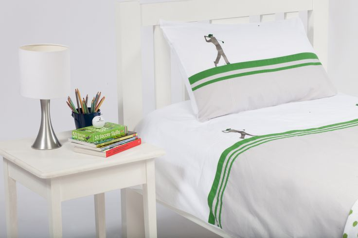 With the style of the French behind it, this gorgeous On the Green quilt cover is available from Cool Kids Rooms.