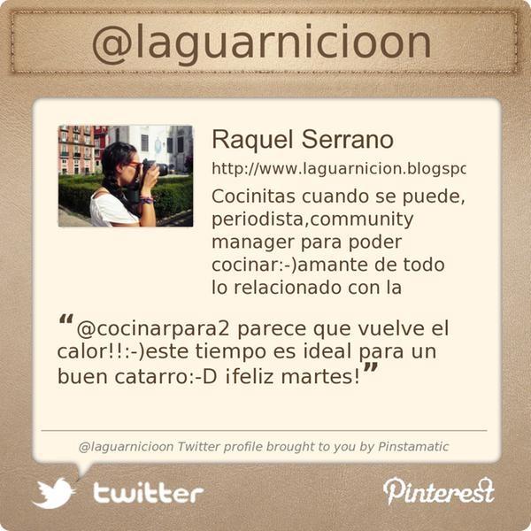 Raquel Serrano @laguarnicioon