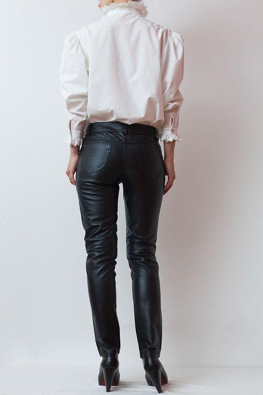 Pantaloni+Negri+Skinny+din+Piele+|+The+Dearhunters