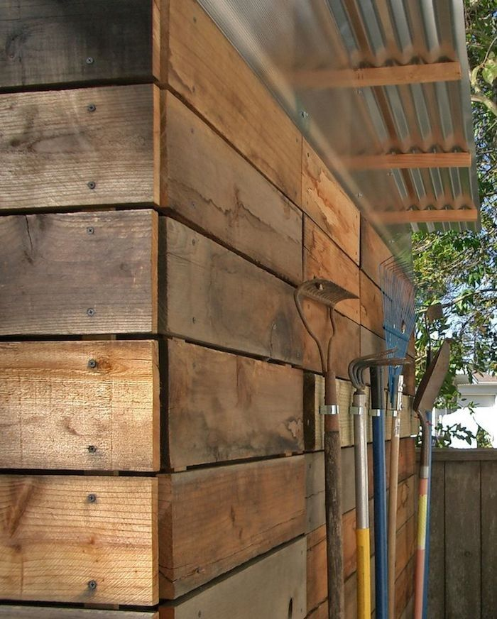 Reclaimed Redwood Garden Shed by Joseph Sandy, Gardenista. This is awesome. Click on through so you can see all the images of the shed.