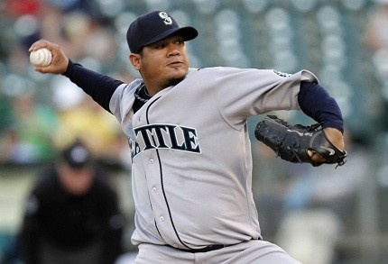 "Felix Hernandez lived up to his ""King"" nickname on Wednesday.Hernandez Living, Felix Hernandez"