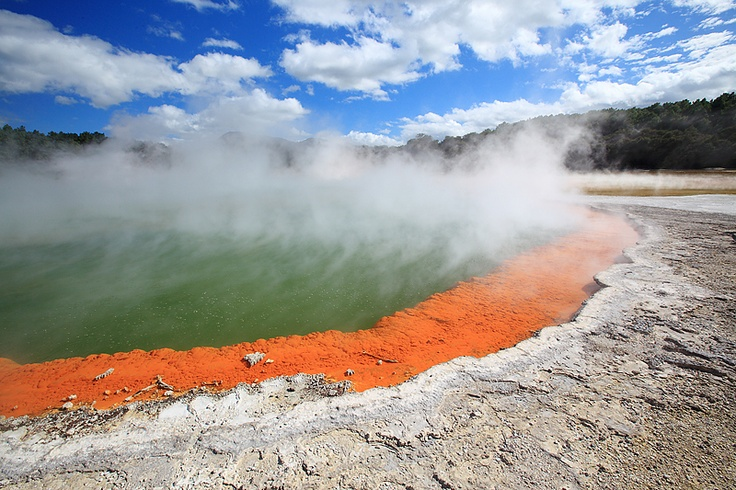 Simmering - Champagne Pool at the Volcanic central part of NZ's North Island. Robert Birkby Photography