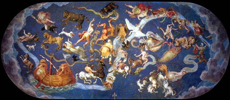 Sala del mappamondo fresco, Palazzo Farnese Caprarola, Italy
