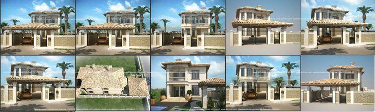 Готовые проекты в 2-х загородных домов в Средиземноморском стиле Одесса Архимас